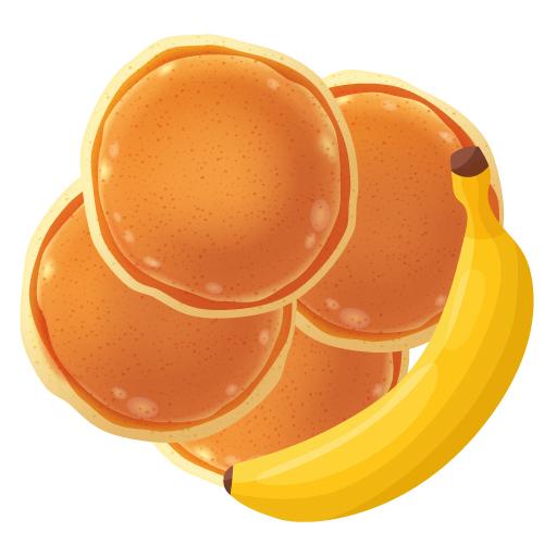American pancakes banaan (4stuks)